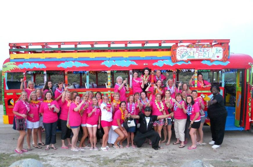Aruba Weddings | Aruba Kukoo Kunuku Party Bus | Aruba Beach Brides