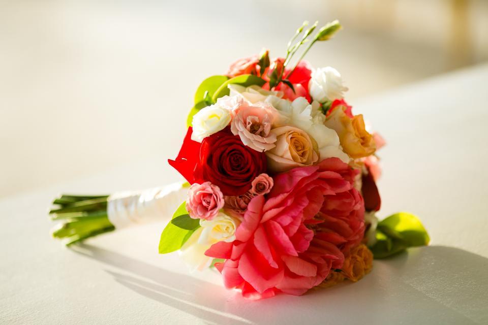 Aruba wedding bouquet