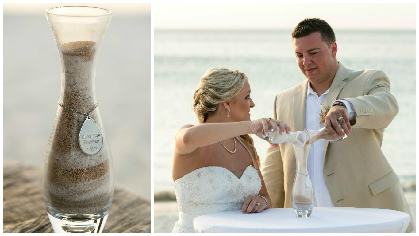 Aruba Beach Wedding | Sand Ceremony Unity Candle | Beach Brides