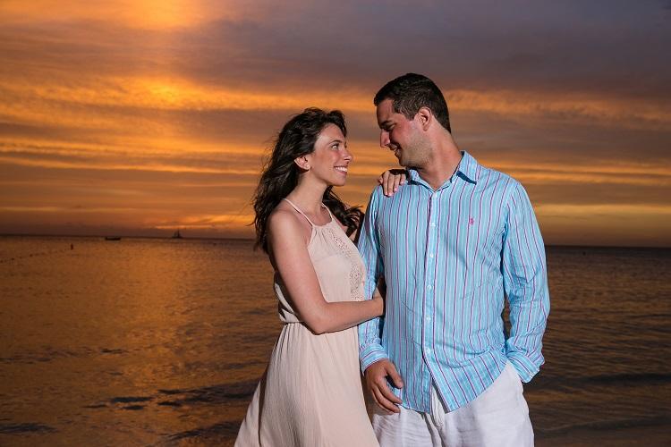 Aruba Engagement-Moon | Aruba Destination Wedding | Beach Brides
