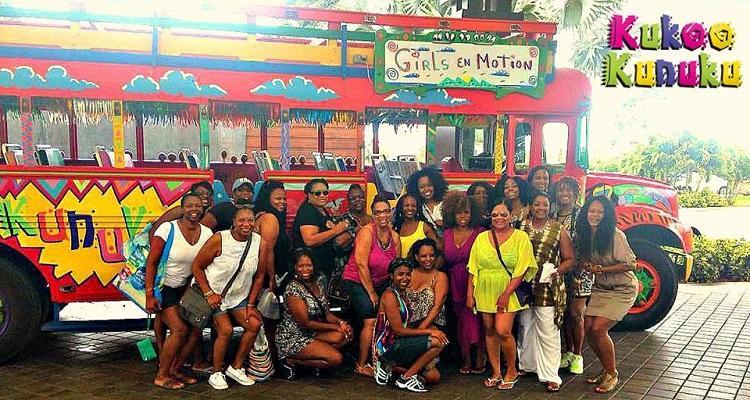Aruba Weddings | Aruba Kukoo Kunuku Party Bus | Aruba Beach Brides