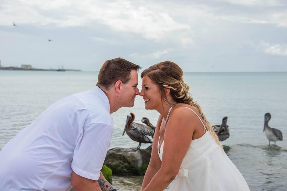 Frame with Flamingos, Aruba, wedding, Destination wedding, Travel, wedding ideas