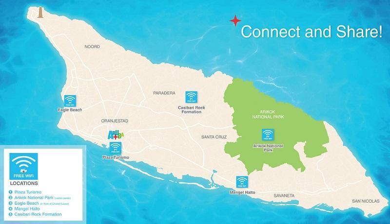 Aruba Destination Weddings | Aruba Free Wifi Zones | Beach Brides Aruba