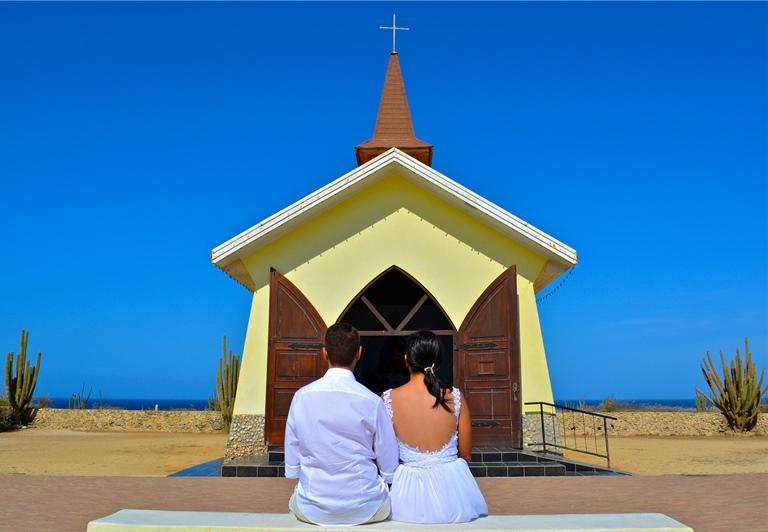 Aruba Church Weddings | Aruba Destination Wedding | Aruba Beach Brides