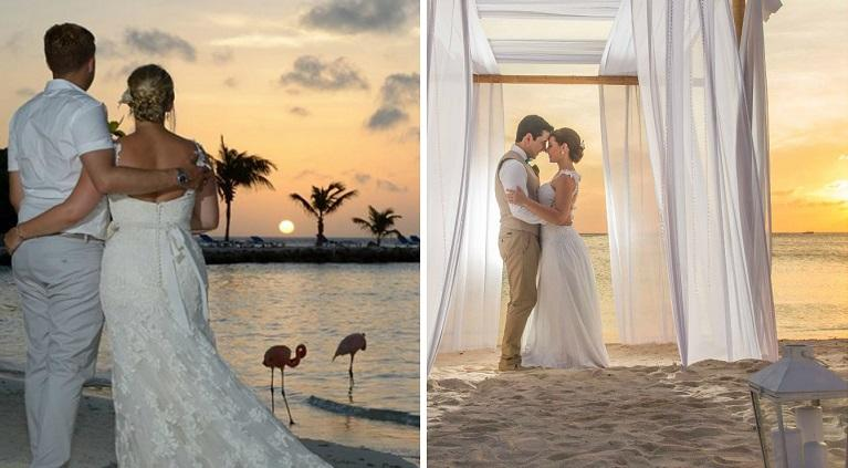 Aruba Sunset Weddings by Indira Maduro and Robert Arenz | Aruba destination Weddings | Aruba Beach Brides
