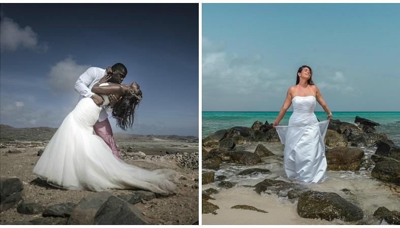 Aruba Wedding Photography Colosal Visual Studio | Trash the Dress Photoshoot | Aruba Beach Brides