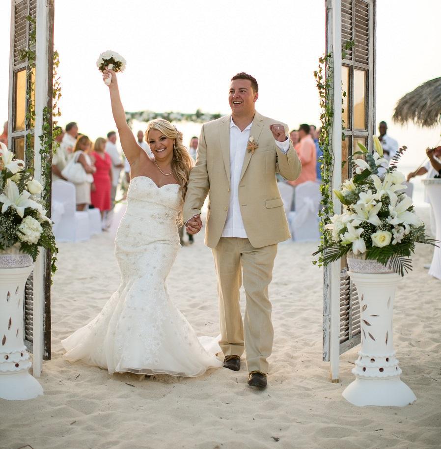 Stephanie's Wedding Dress | Aruba Beach Wedding |  Beach Brides