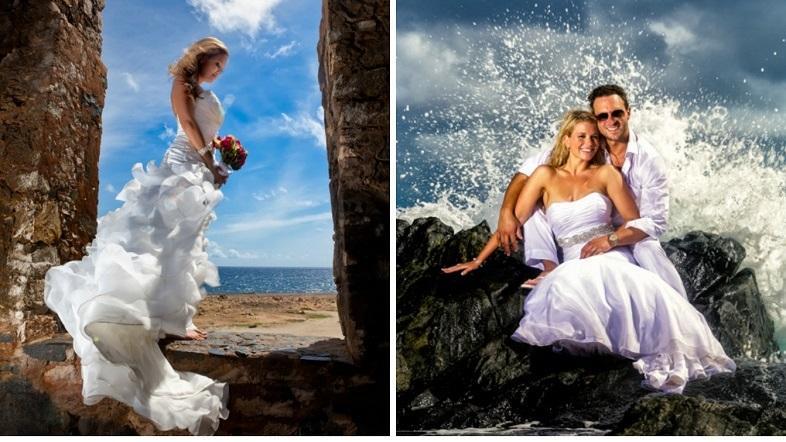 Aruba Wedding Photography Victor Winklaar | Trash the Dress Photoshoot | Aruba Beach Brides